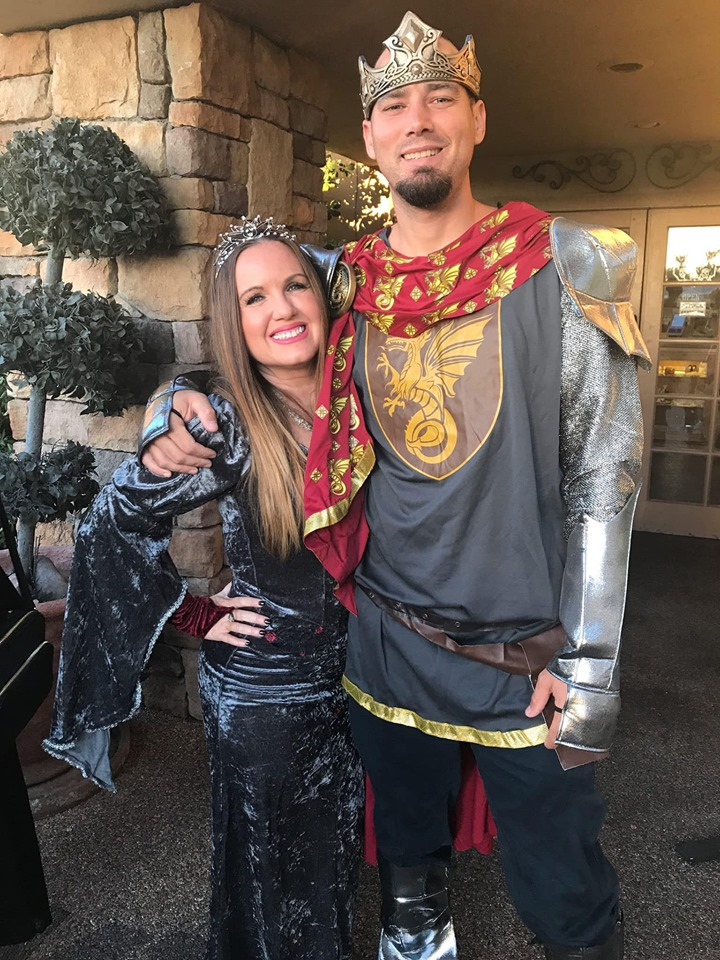 Couple dressed up in costumes for a Viva Las Vegas Halloween Wedding show.| Las Vegas- A Guide to Vegas