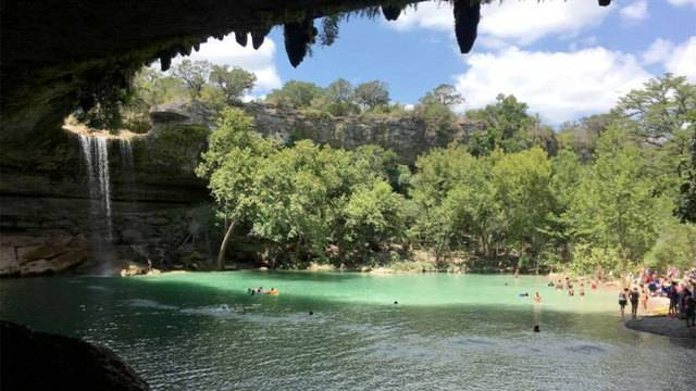 View of Hamilton Pool Preserve in Austin.  Weekend Guide to Austin, Texas