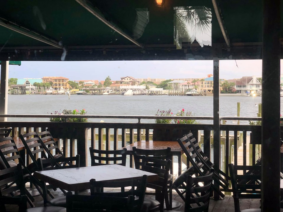 View from inside the Harbor Docks restaurant in Destin.   Destin, Florida with the Kids