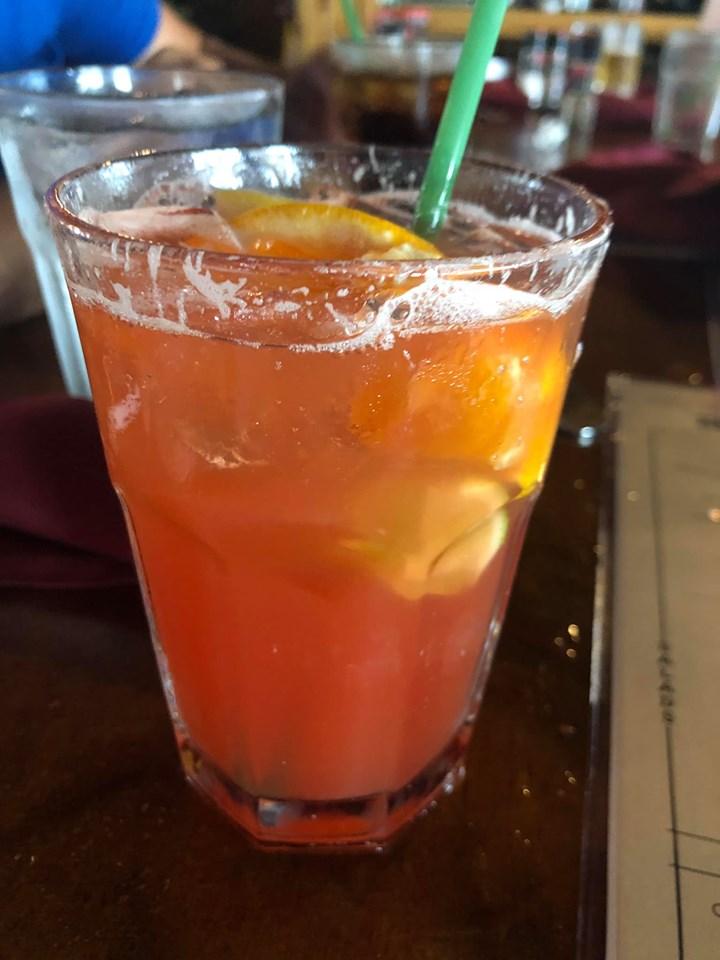 Cocktail from Harbor Docks restaurant in Destin.   Destin, Florida with the Kids