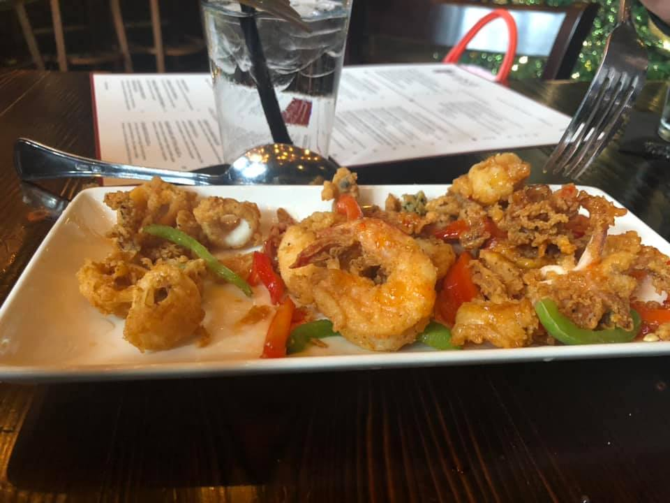 """Plate of food from Hearsay on The Strand in Galveston.   Adult Weekend in Galveston, Texas; on """"The Strand"""""""