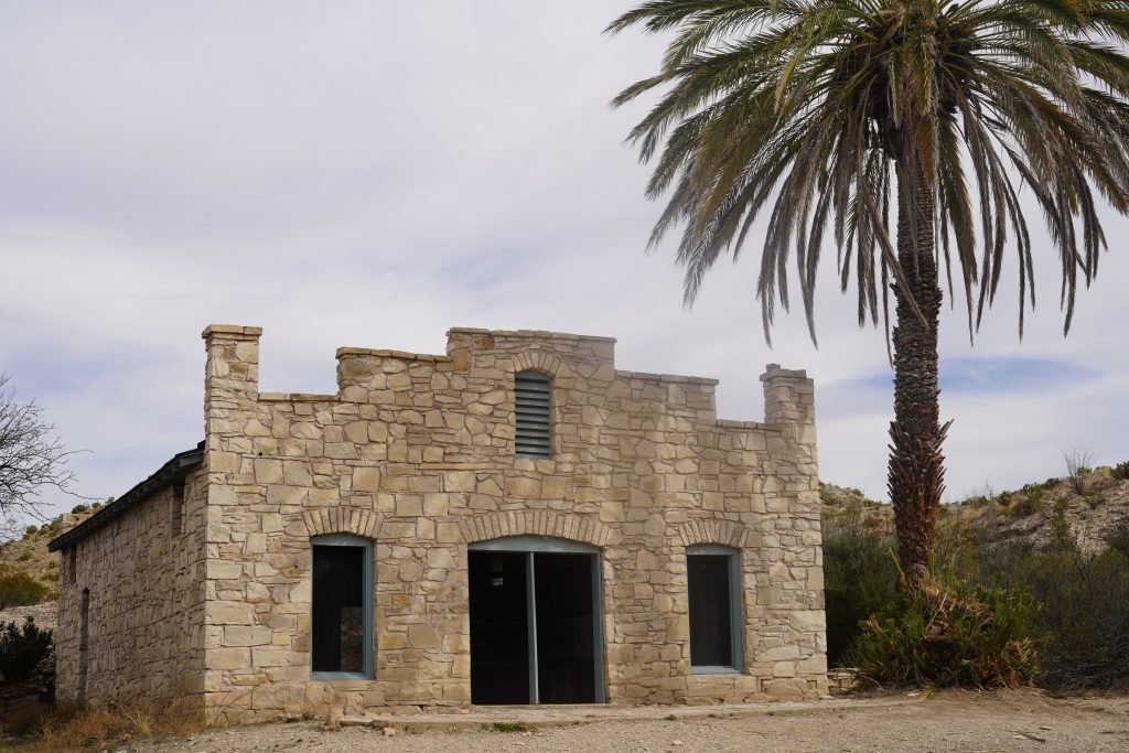 Historic building on trail to hot springs at Big Bend. | Big Bend National Park 1-Day Itinerary