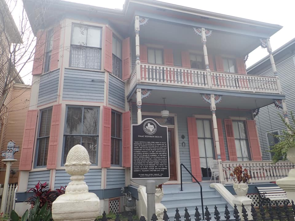 """Historic mansions on The Strand in Galveston.   Adult Weekend in Galveston, Texas; on """"The Strand"""""""