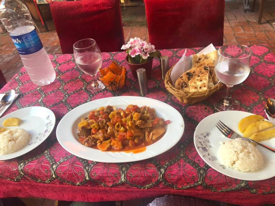 Plates of food from Huzur Cafe. | Istanbul, Turkey