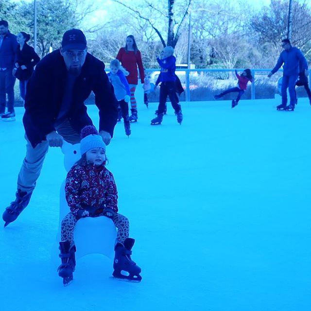 People ice skating at the Gaylord Texan in Texas. | Christmas at the Gaylord Texan Hotel