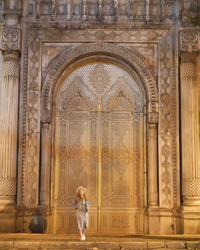 Woman standing in front of giant door. | Istanbul, Turkey