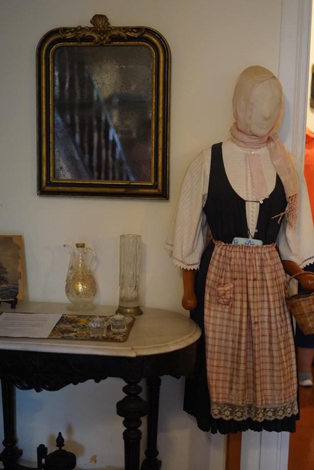 Displays inside the Island museum in Greece.| Skopelos Island, Greece- Mamma Mia Island