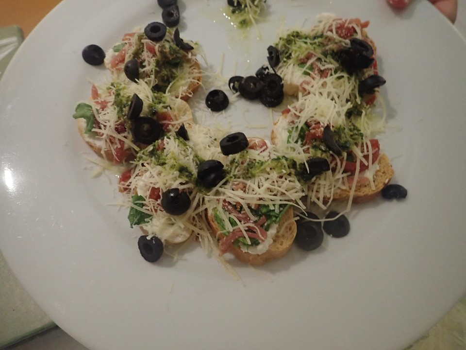Plate of Italian food at Reflect Krystal in Cabo.   Cabo, Mexico- The Best All Inclusive Vacation