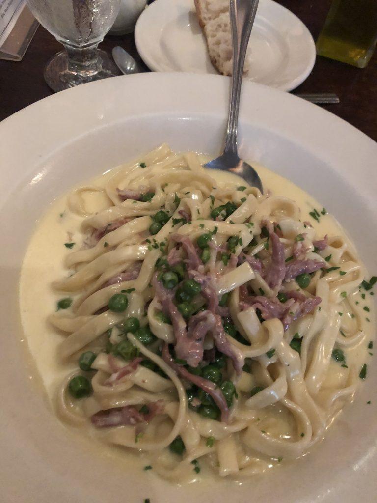 Plate of food from Giacomo's restaurant in Boston. | Boston, Massachusetts- Adult Getaway