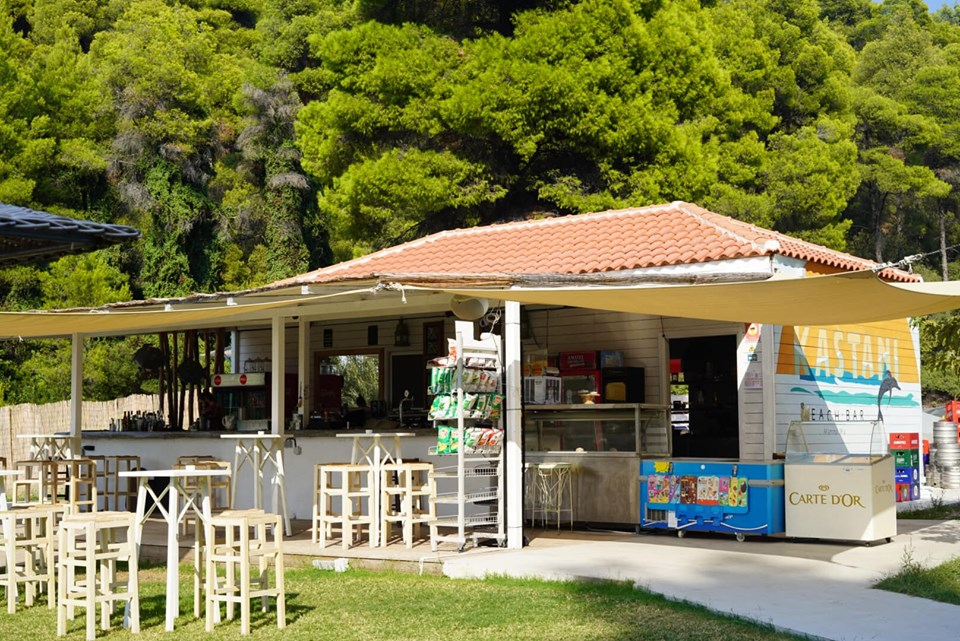 Restaurant at the Kastani Beach. | Skopelos Island, Greece- Mamma Mia Island