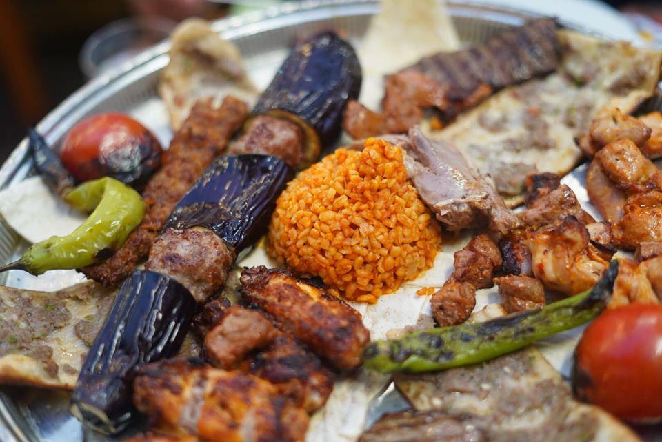 Plate of food from the Konyali Ahmet Usta restaurant.  | Istanbul, Turkey