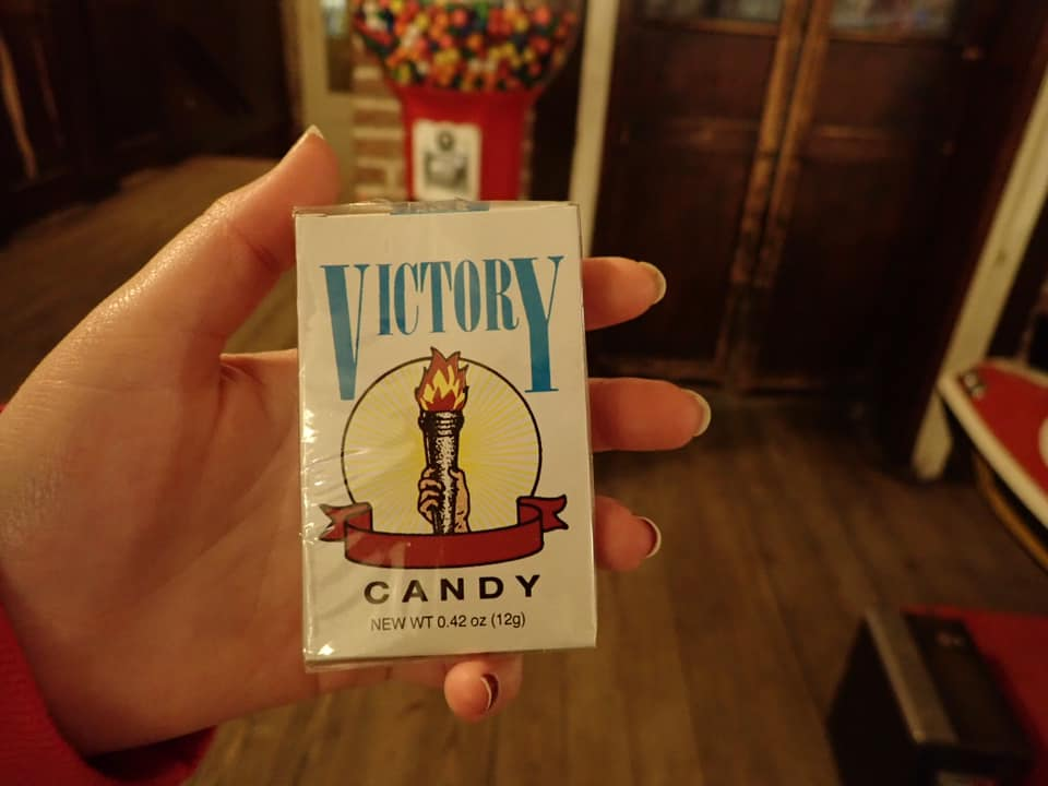 """Candy cigarettes at La King's Confectionery in Galveston.   Adult Weekend in Galveston, Texas; on """"The Strand"""""""