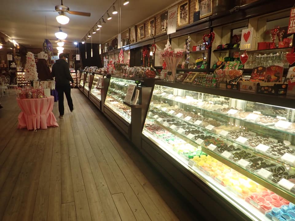 """Dessert display at La King's Confectionery in Galveston.   Adult Weekend in Galveston, Texas; on """"The Strand"""""""