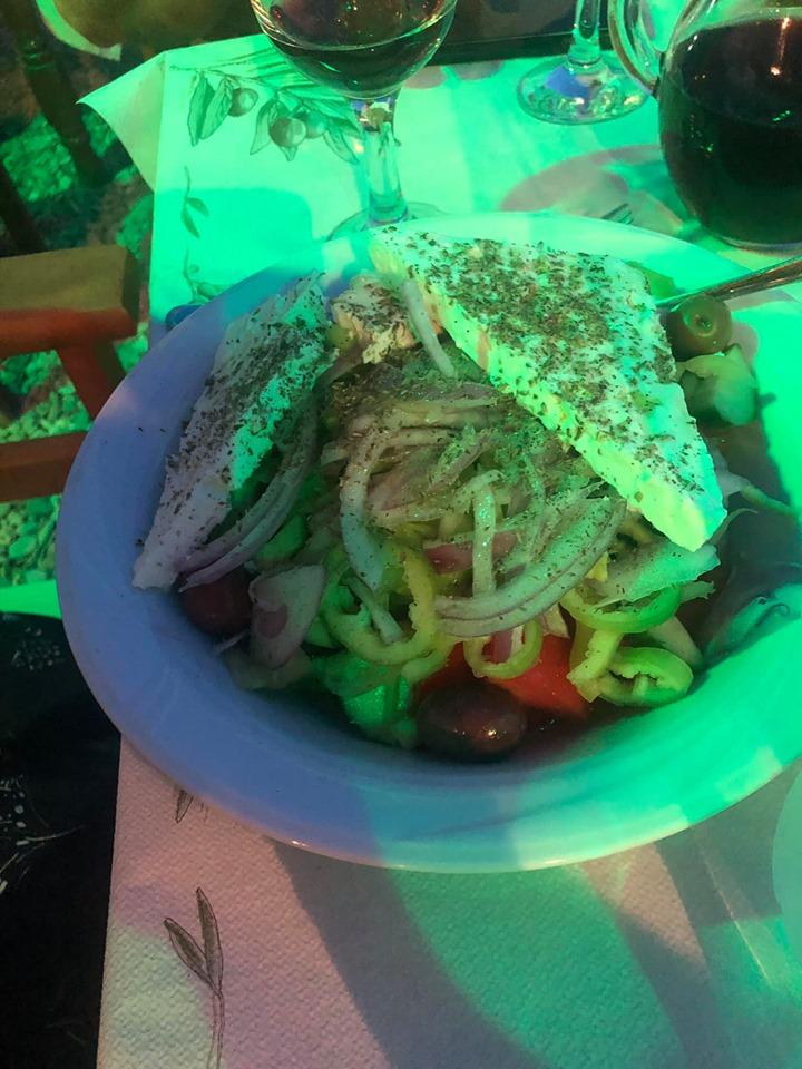 Plate of food at Linarakia restaurant in Port Town in Greece.| Skopelos Island, Greece- Mamma Mia Island