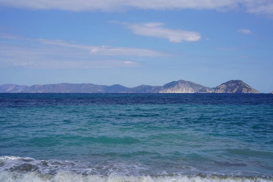 Indoor view at Glifoneri restaurant in Port Town in Greece.| Skopelos Island, Greece- Mamma Mia Island