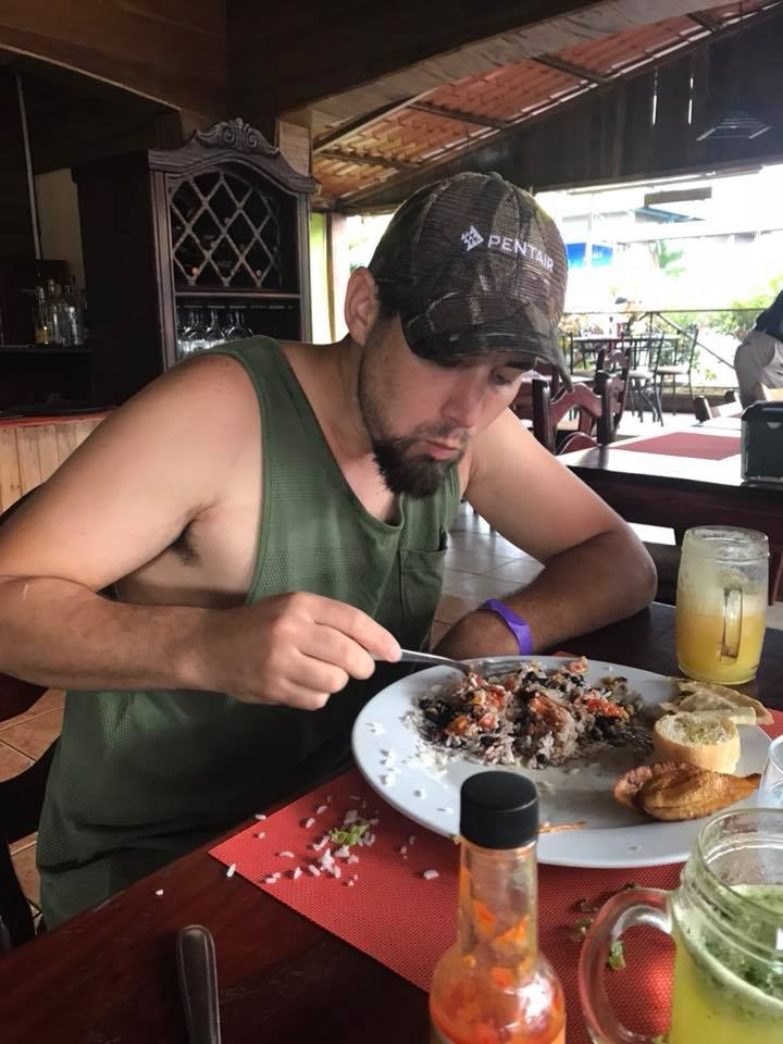 Plate of food at local restaurant at La Fortuna Waterfall in Costa Rica.   Costa Rica, Arenal Volcano