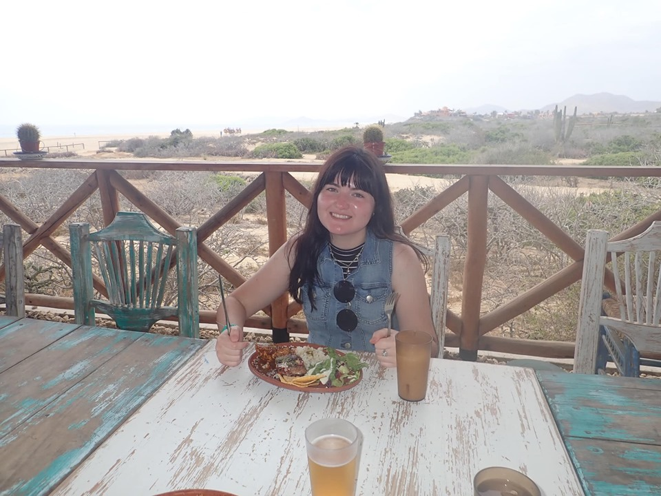 Woman eating lunch in Cabo.   Cabo, Mexico- The Best All Inclusive Vacation