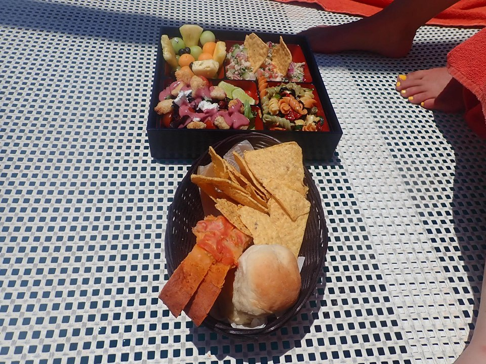 Platters of food on the boat in Cabo.   Cabo, Mexico- The Best All Inclusive Vacation
