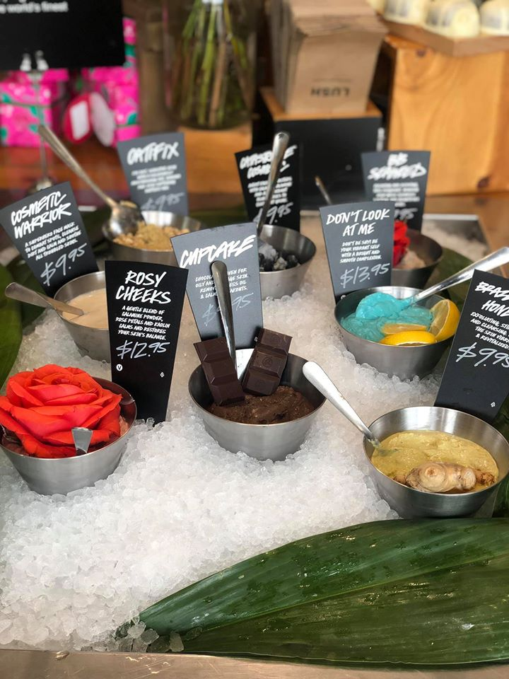 Lush products inside Lush on Market Street in Woodlands.   Girls Weekend Getaway- Woodlands, TX
