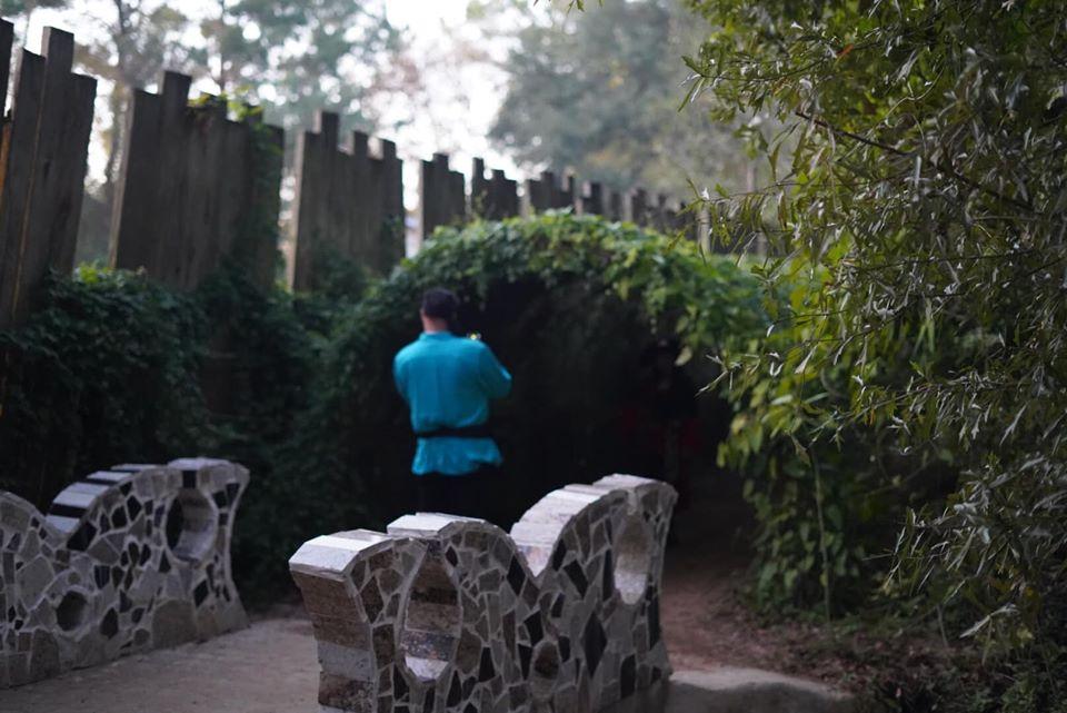 People walking around the Magical Gardens. | Texas Renaissance Festival
