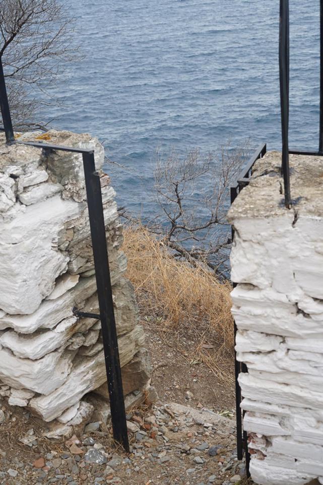 Secret spot behind the Mamma Mia chapel. | Skopelos Island, Greece- Mamma Mia Island