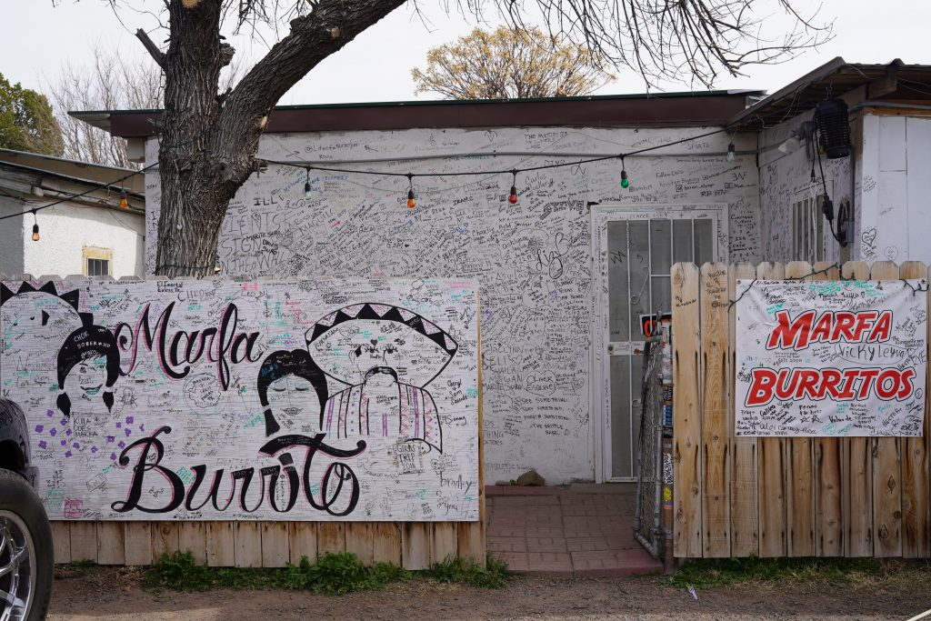 Marfa Burrito restaurant in Marfa. | Marfa, Texas- Where to Stay, What to do, & What to Eat