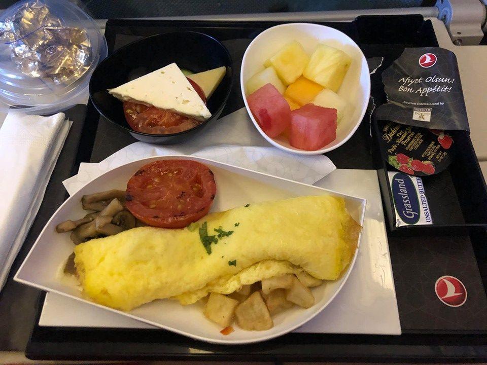 Menu and food on British Airways. | Skopelos Island, Greece- Mamma Mia Island