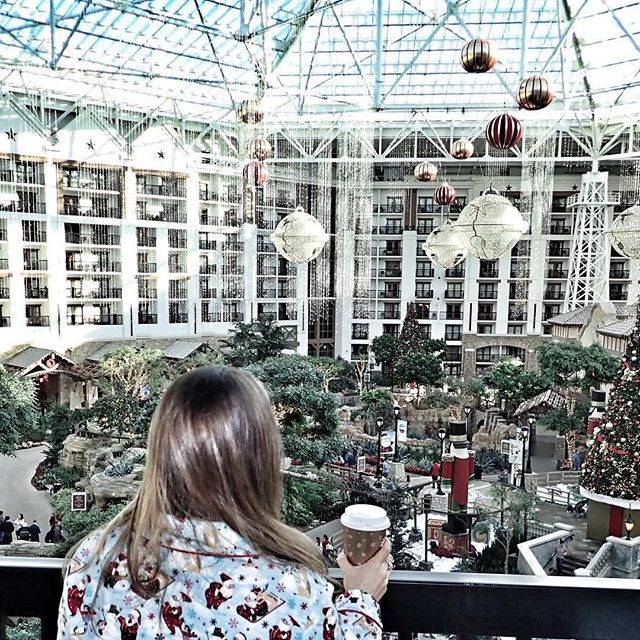 View of the Atrium from the hotel room at the Gaylord Texan in Texas. | Christmas at the Gaylord Texan Hotel