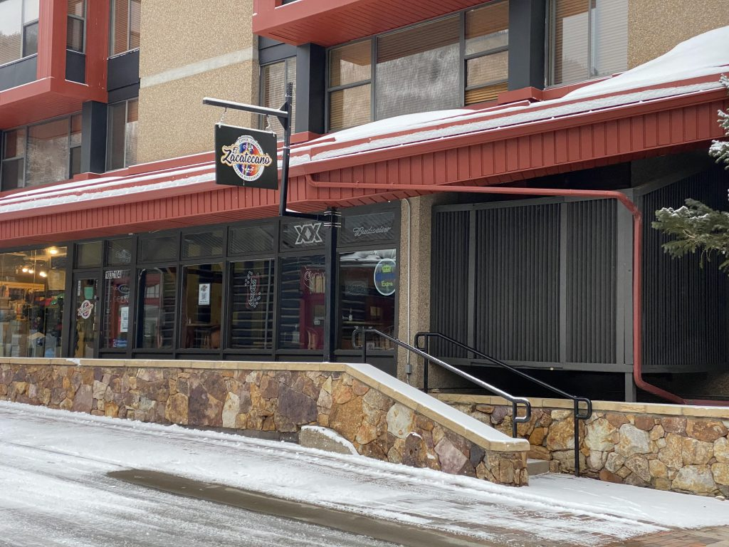 The front of the Zacatecano Mexican Restaurant at Copper Mountain.| Guide to Copper Mountain Resort in Colorado