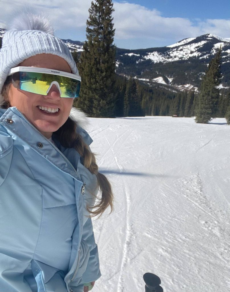 Woman taking a selfie while skiing on Copper Mountain.| Guide to Copper Mountain Resort in Colorado