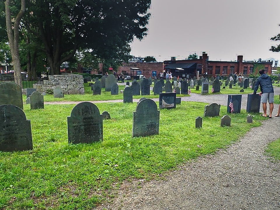View of the Old Burial Point Cemetery in Salem. | What to do in Salem, MA