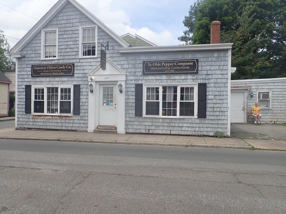 Outside view of Ye Olde Pepper Companic, the oldest candy company, in Salem. | What to do in Salem, MA