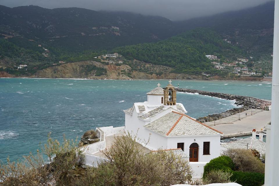 Beautiful view of the port in Greece.| Skopelos Island, Greece- Mamma Mia Island