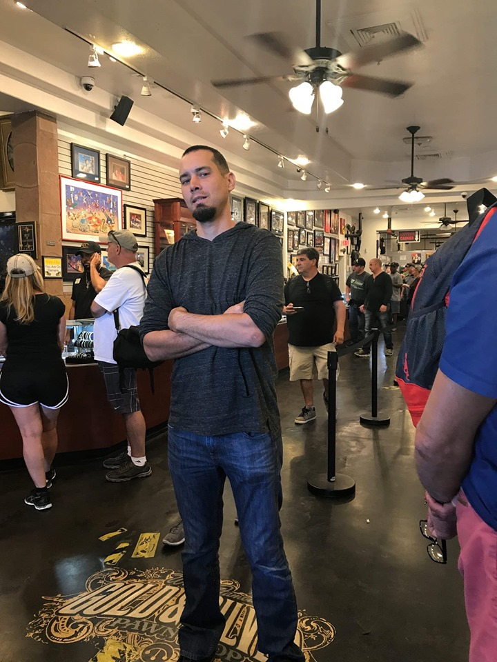 Man standing inside Pawn Shop for Pawn Stars Show. | Las Vegas- A Guide to Vegas