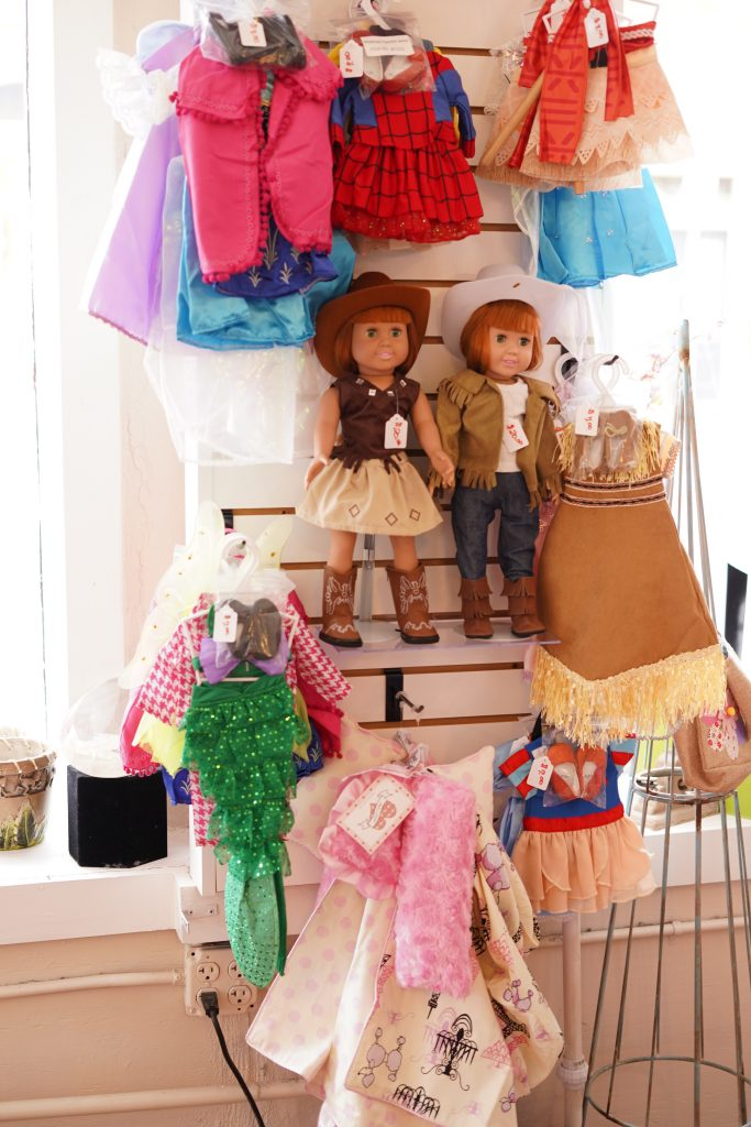 Pickadillys American Girl Dolls in a store.   A Guide to Granbury, Texas
