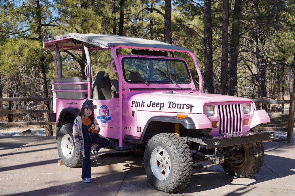 Little girl posing in front of a Pink Jeep in Sedona. | Sedona, Arizona: Is it worth it?