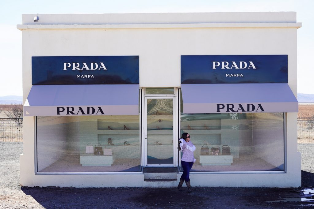 Prada storefront in Marfa. | Marfa, Texas- Where to Stay, What to do, & What to Eat