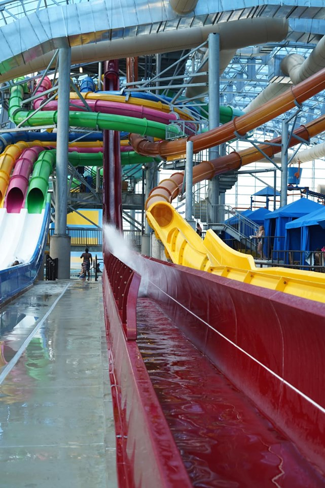 View of Prairie Plunge ride at Epic.| Epic Waterpark in Dallas, Texas