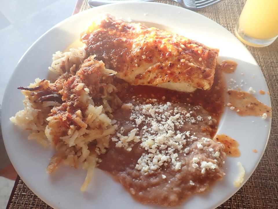 Plate of food from breakfast buffet at Reflect Krystal in Cabo.   Cabo, Mexico- The Best All Inclusive Vacation