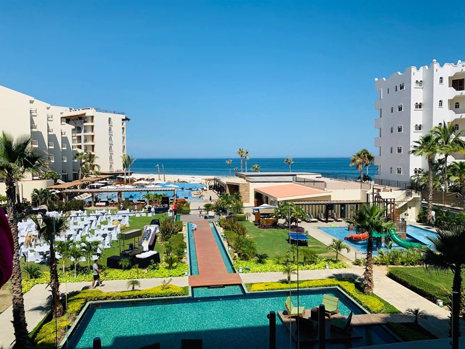 View of the Reflect Krystal Grand Los Cabos hotel in Cabo.   Cabo, Mexico- The Best All Inclusive Vacation