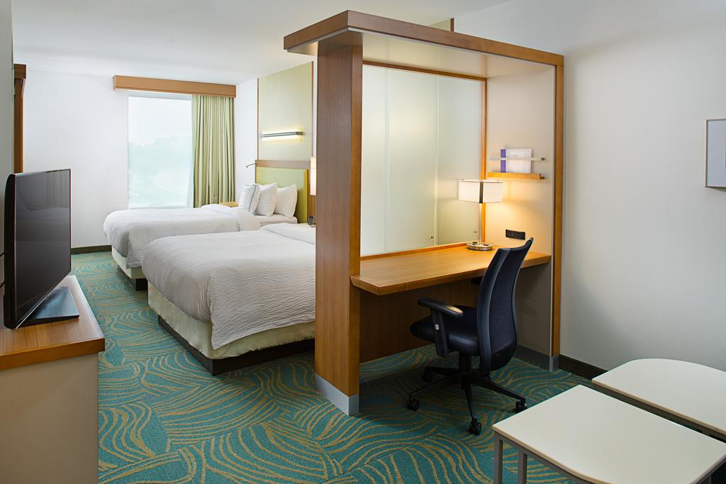Inside hotel room at SpringHill Suites by Marriott Dallas Lewisville. | Epic Waterpark in Dallas, Texas