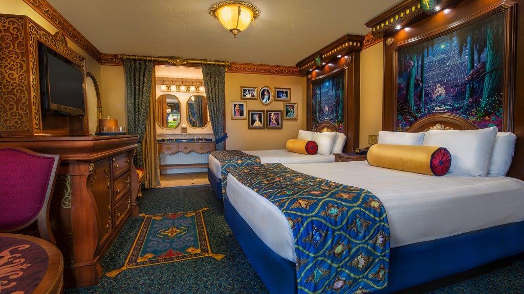 Hotel room at Disney's Port Orleans Resort- Riverside at Disney World.   Celebrating A Wedding Anniversary at Walt Disney World
