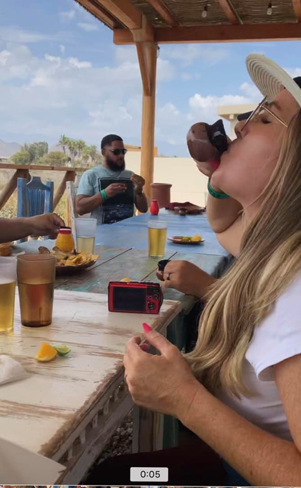 Woman taking shots in Cabo.   Cabo, Mexico- The Best All Inclusive Vacation