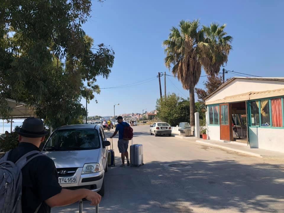 People walking on Skiathos Island to the Ferry. | Skopelos Island, Greece- Mamma Mia Island