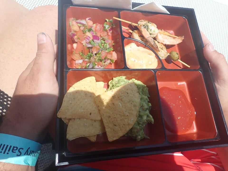Plate of snacks on catamaran in Cabo.   Cabo, Mexico- The Best All Inclusive Vacation