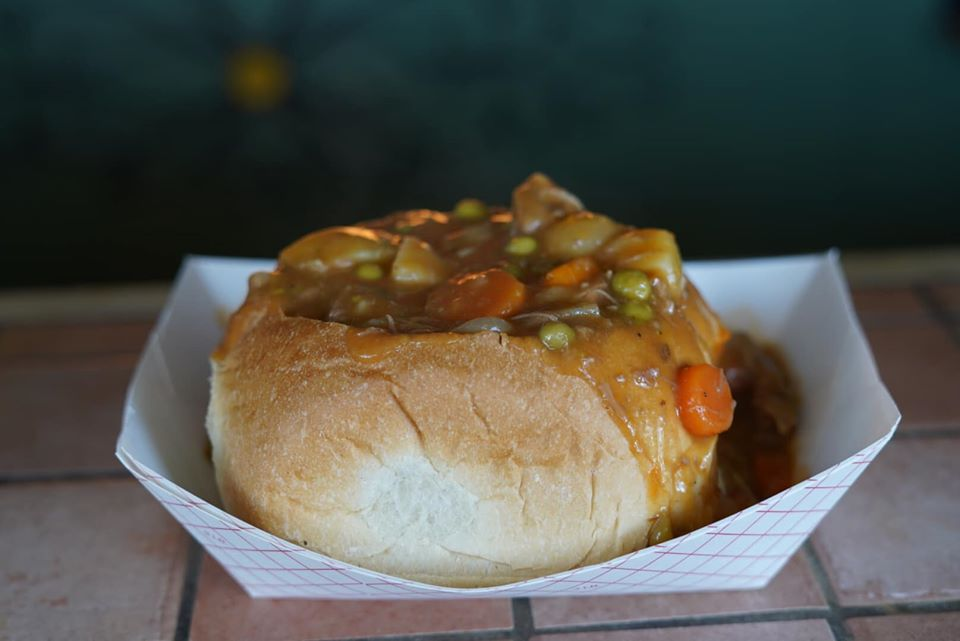 Soup in a bread bowl.| Texas Renaissance Festival