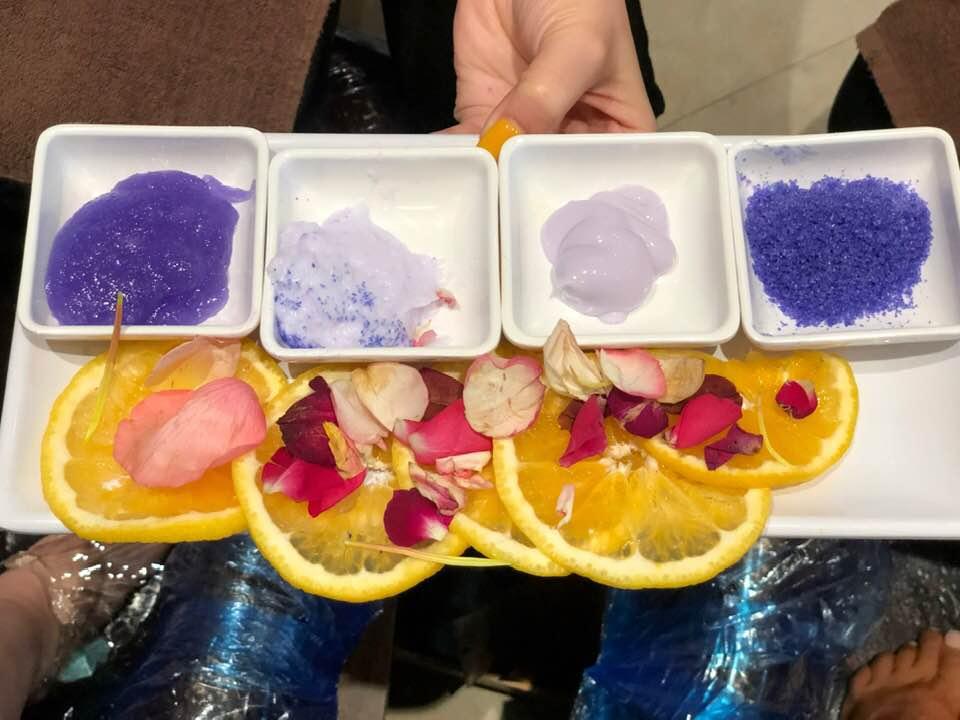 Pedicure supplies at Venetian Nail Salon, Woodlands, TX.  Girls Weekend Getaway- Woodlands, TX