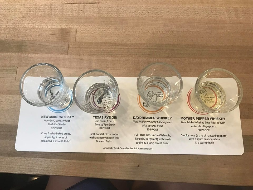 Whiskey tasting at Still Austin Whiskey Company in Austin.  Weekend Guide to Austin, Texas