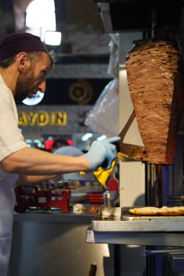 Street vendor preparing food inside Grand Bazaar. | Istanbul, Turkey