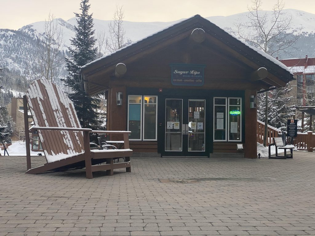 Front of the Sugar Lips mini donut shop on Copper Mountain.| Guide to Copper Mountain Resort in Colorado